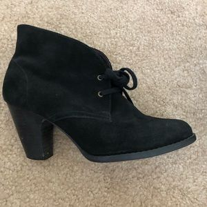 Clarks Indigo Black Suede Ankle Boots Booties